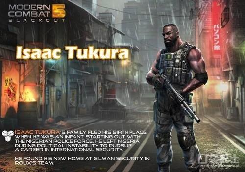 《现代战争5》即将迎来发布日,这款让我们苦苦等待的巨作,总算是要浮出水面了。今天口袋巴士小贱将要给大家介绍介绍近期Gameloft官方博客才发布的《现代战争5》的角色。黑人Isaac Tukura。让