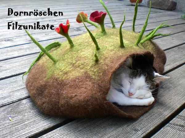 Dornroeschen Filzunikate的创意猫窝