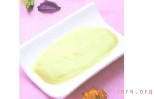自制绿茶蛋黄紧肤瘦脸面膜的做法