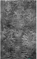 玛雅文明时期碑铭神庙的青年浮雕
