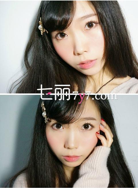 日系减龄萌妆画法教程 内外眼线萌妆技巧