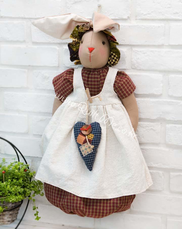 兔耳朵袋子娃娃