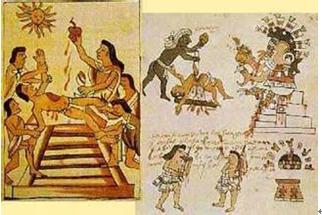 玛雅人祭祀示意图