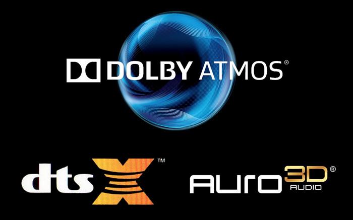 DTS:X & dolby atmos & auro-3d