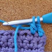钩针长针织片起始位置完美换色小技巧