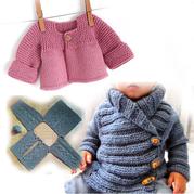 看图就可以轻松织的欧美婴幼儿开衫毛衣