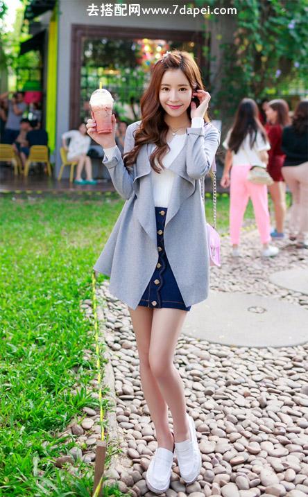 春天+外套+显个子 提高姑娘们穿衣打扮的功力(1)